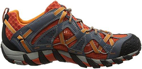 Merrell Waterpro Maipo, Zapatos de Low Rise Senderismo para Hombre Multicolor (Dark Grey/Spicy Orange)