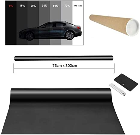 Promo Link Tönungsfolie Licht Schwarz 25 76x600cm Scheibenfolie Auto Fenster Sonnenschutzfolie Auto