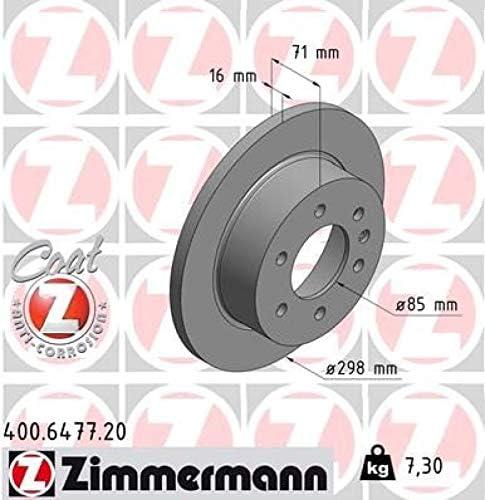 Hinterachse Zimmermann Bremsscheiben Scheibenbremse vorne Zimmermann Bremsbel/äge Bremsbelagsatz Kl/ötze Vorderachse hinten