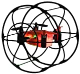 ODYSSEY Toys Turbo Runner NX RC Drone, black & red colored in a mini size for indoor/outdoor flying, 2.4 GHz for maximum power. Sized at 3.9in.L x 3.7in.W x 3.9in.H