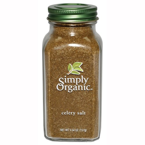 Simply Organic Celery Salt Certified Organic, 5.54-Ounce Containers  (Pack of 3)