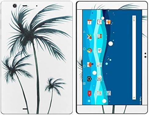 igsticker Qua tab PZ LGT32 全面スキンシール タブレット tablet LGエレクトロニクス シール ステッカー ケース 保護シール 背面 016461 ヤシの木 植物