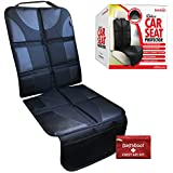 DaffaDoot Deluxe Auto Seat Protector Fits Under Baby Car Seat or Booster- Universal Fit - Complete Heavy Duty Coverage - Waterproof Anti-Slip Color-Fast Heat Resistant - Safely & Effectively Protects