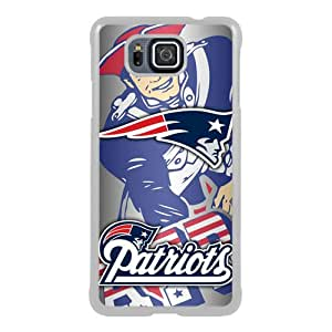 Beautiful And Unique Designed Case For Samsung Galaxy Alpha With New England Patriots 40 white Phone Case