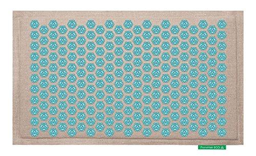 Pranamat ECO Therapeutic Manual Massage Mat (Natural Turquoise) by Pranamat ECO