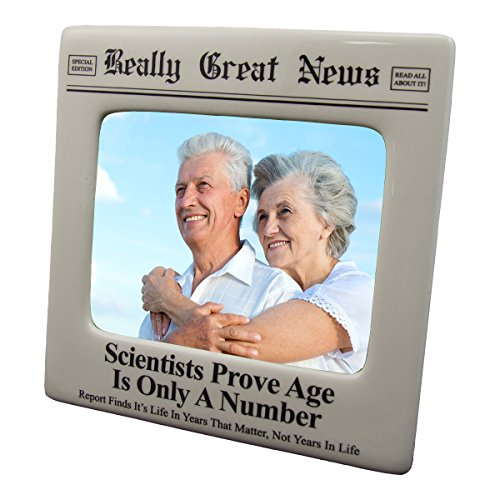 Really Great News Funny Newspaper Picture Photo Frame 4x5 (Porcelain Figurine Age 4)
