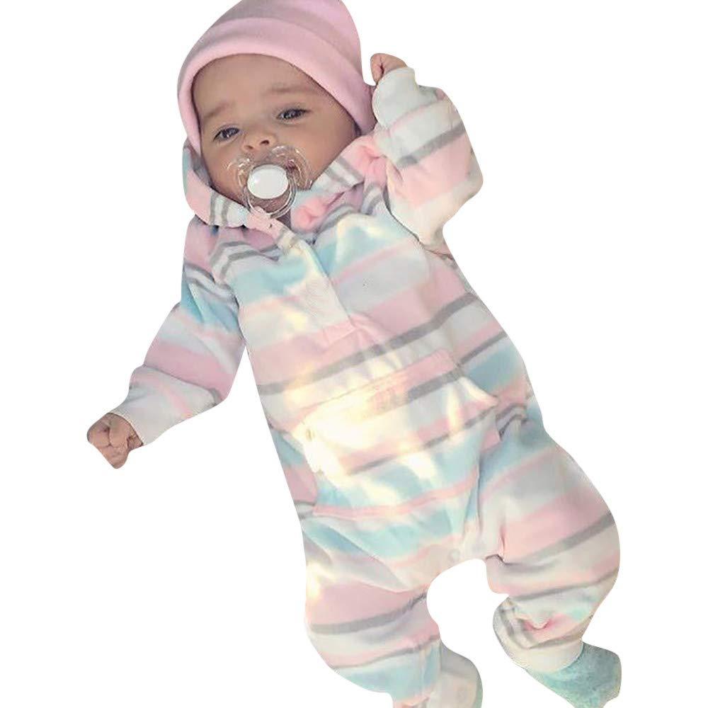 Completino Bambina Abbigliamento Bimbi 18 Mesi Bambina Battesimo Bambino 6 9 12 18 Mesi Neonato Bambino Neonato A Strisce Colorate Con Cappuccio NUSGEAR Morwind