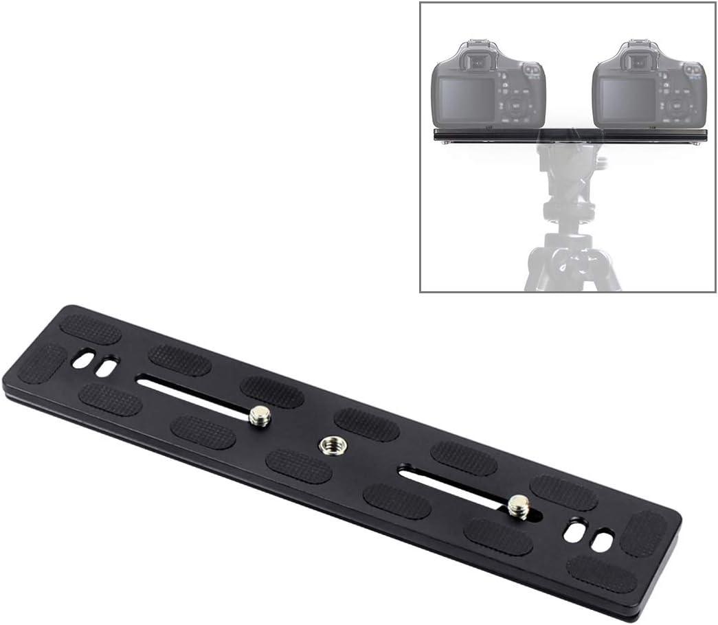 Teng AYSMG 200mm Length PU-200 Aluminum-Magnesium Alloy Quick Release Plate QR Clamp for Benro B3 J2 //J3 Tripod Ball Head