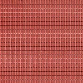 Auhagen 52.225,0 - Paneles Decorativos Teja, 10 x 20 cm Superficie de la Estructura, marrón