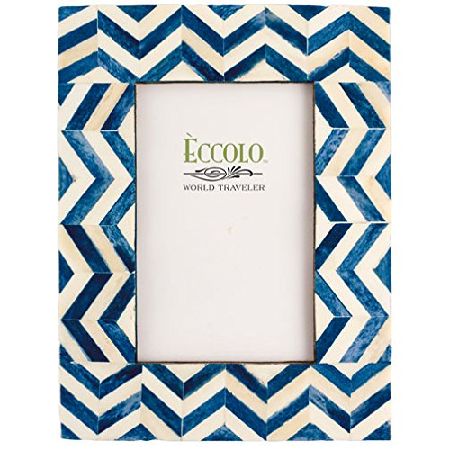 Eccolo Naturals Frame, 5 by 7-Inch, Chevron - Masculine Frames Picture