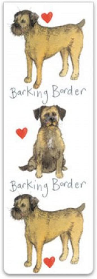 Books BM06 Barking Borders Magnetic Bookmark Alex Clark Border Terrier Dogs