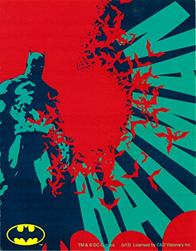 Batman - Standing with Red Bats and BATMAN in Background - Sticker/Decal