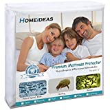 HOMEIDEAS Zippered Mattress Encasement - 100% Waterproof - Hypoallergenic, Dust Mite Proof, Bed Bug Proof Breathable Mattress Protector - Full Size