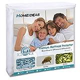 HOMEIDEAS Zippered Mattress Encasement - 100% Waterproof - Hypoallergenic, Dust Mite Proof, Bed Bug Proof Breathable Mattress Protector - King Size