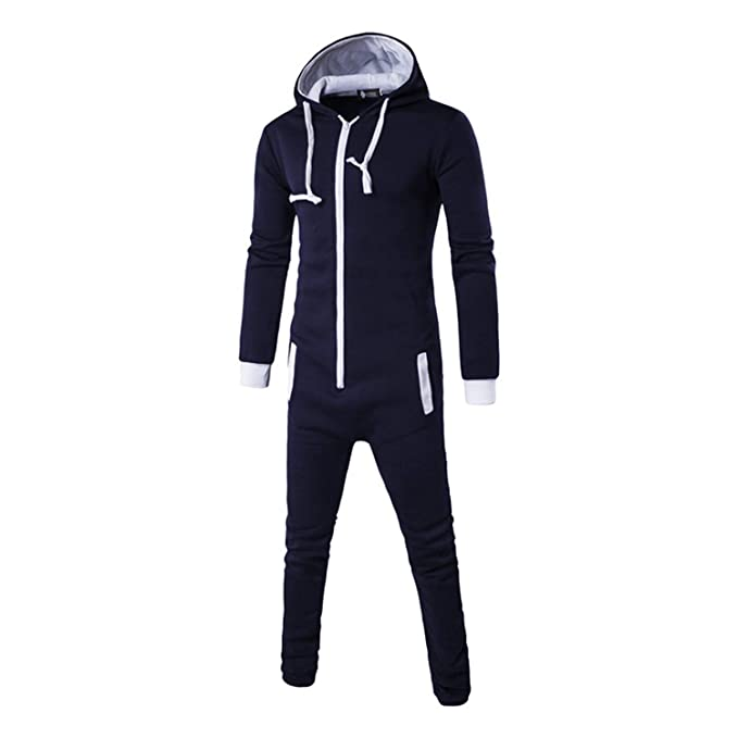 Thadensama Tmall Quality Pajamas Onesie for Man Zipper Pijama Masculino Erkek Pijamas Hombre Invierno Blue Pyjama Homme Mens at Amazon Mens Clothing store: