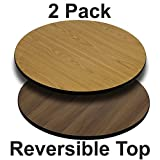 "Flash Furniture 2 Pk. 42"" Round Table Top with Natural or Walnut Reversible Laminate Top Review"