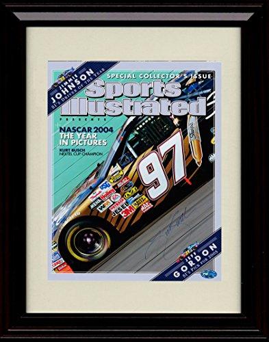 Busch Autograph (Framed Kurt Busch Sports Illustrated Autograph Replica Print)