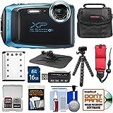 Fujifilm FinePix XP130 Shock & Waterproof Wi-Fi Digital Camera (Sky Blue) with 16GB Card + Battery + Cases + Tripod + Strap + Kit
