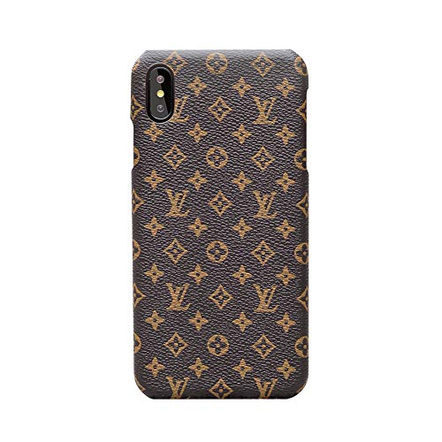 iPhone Xs Max Case Elegant Luxury PU Leather Monogram Pattern Classic Style Cover Case for Apple iPhone Xs Max (Small Logo) - Style Phones Iphone