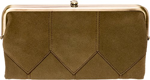 Hobo Womens Suede Vintage Lauren Clutch Wallet Purse (Sage) by HOBO