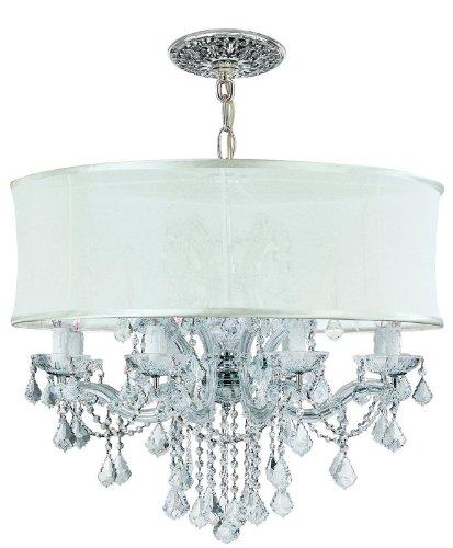 - Crystorama 4489-CH-SMW-CL-S, Brentwood Swarovski Crystal Chandelier Lighting, 12LT, 720w, Chrome