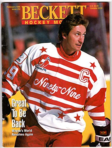 (February 1995 Issue Of Beckett Hockey Monthly With Wayne Gretzky On The Cover )