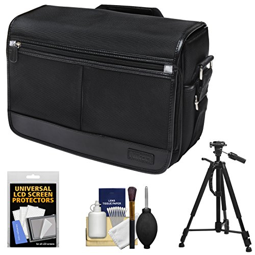 Nikon DSLR Camera/Tablet Messenger Shoulder Bag with Tripod + Accessory Kit