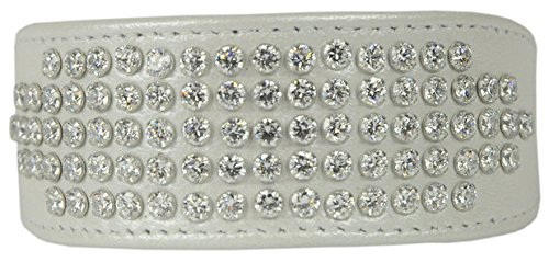 Evans Collars Lambskin Empress Rhodium Collar, Pearlized