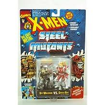 X-Men Steel Mutants Spy Wolverine vs Omega Red Die Cast Metal 2pk Action Figure