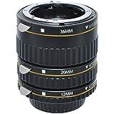 Xit XTETN Auto Focus Macro Extension Tube Set for Nikon SLR Cameras, Black