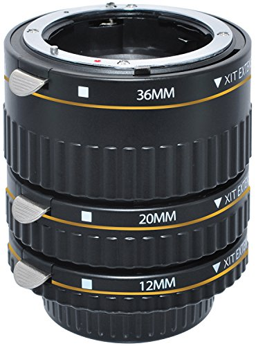 Xit XTETN Auto Focus Macro Extension Tube Set for Nikon SLR Cameras (Black) by Xit