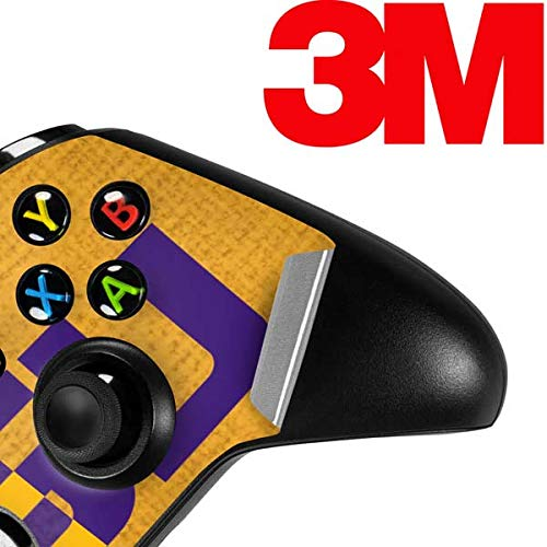 Lightweight Vinyl Decal Protection Ultra Thin Skinit LSU Bold Split Xbox One X Controller Skin Officially Licensed College Gaming Decal