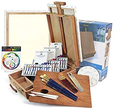 Artist Quality Full Size -Table Easel Art Set- Complete Package For Getting Started in Painting by French Easels