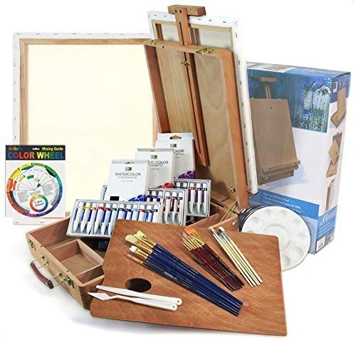 Artist Quality Full Size -Table Easel Art Set- Complete Package For Getting Started in Painting by French Easels by French Easels