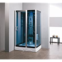 "Luxury Kokss 9009 Shower enclosure 48"" x 36"" with 6 jets, radio, led lights, modern bath foot massage, FM Radio and bluetooth, Computer control panel, home bathroom design"