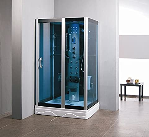 "Luxury Kokss 9009 Shower enclosure 48"" x 36"" with 6 jets, radio, led lights, modern bath foot massage, FM Radio and bluetooth, Computer control panel, home bathroom - 6 Jets Massage Shower Panel"