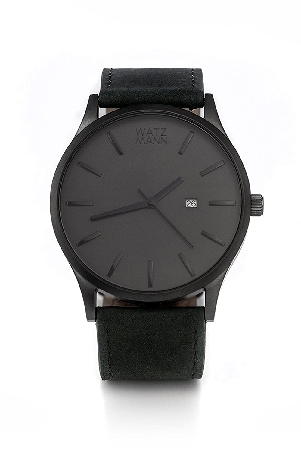 WATZMANN watch -- grey black edition - minimalistische Herrenuhr