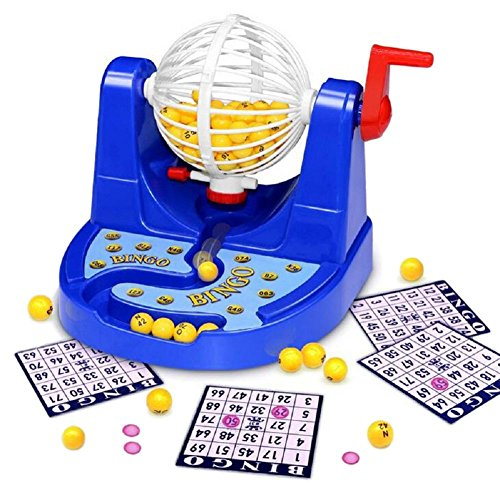 Deluxe Bingo Game Cage (SSJ Children's Educational Bingo Set Lottery Party Game (New Edition))
