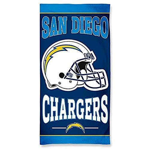 WinCraft NFL San Diego Chargers Fiber Beach Towel, 9lb/30 x 60