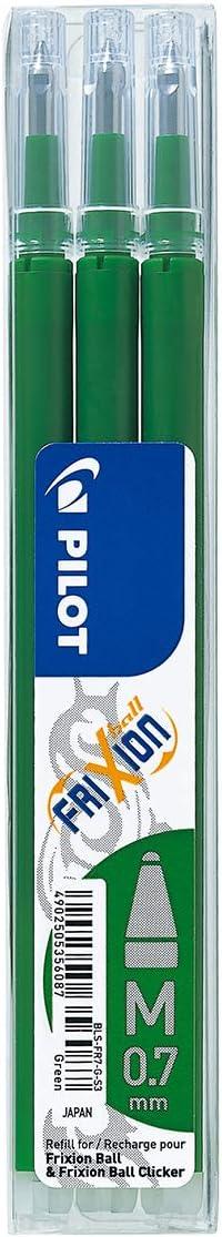 Penna roller a scatto FriXion Clicker a inchiostro gel cancellabile 1 risma 500 fogli blu /& Basics Carta da stampa multiuso A4 80gsm Pilot Pen 3 refill inclusi nella confezione bianco