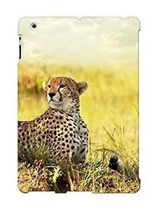 Design For Ipad 2/3/4 Premium Tpu Case Cover Cheetah Savanna Africa Protective Case