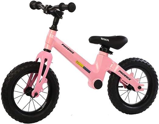 Bicicleta Sin Pedales Ultraligera Equilibrio para bicicleta de 5 años, niña, color de rosa, sin pedales, bicicleta de 12,5 pulgadas para caminar Equilibrio para bicicleta, regalo de Birhday, bicicleta: Amazon.es: Hogar