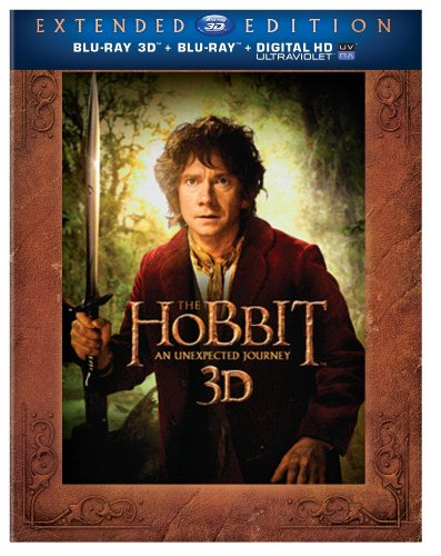 Blu-ray 3D : The Hobbit: An Unexpected Journey (Extended Edition--Five-Disc Set) (With Blu-Ray, Boxed Set, Extended Edition, 3 Dimensional, 5 Disc)