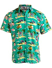 a2c6ff6d8b Workout Flamingos | Funny Lifting Hawaiian Button Down Polo Party Lift  Shirt Men