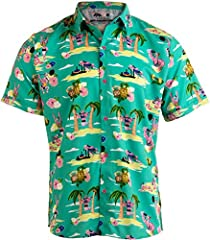 An all-original Hawaiian shirt with a unique print of flamingos getting fit! Burpees, sleds, kipping, and squats - all in a vibrant pattern on a lightweight, slightly stretchy fabric that will sit cool and flex in the shoulders. Dyed to match...