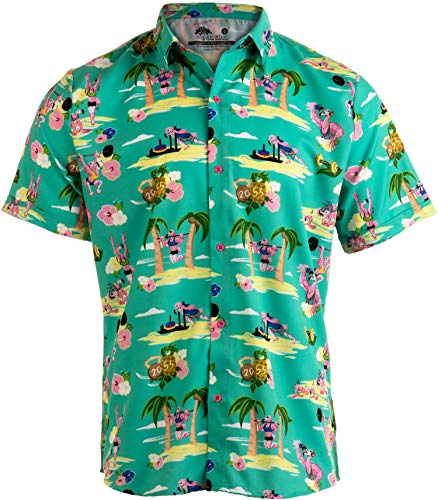 Workout Flamingos | Funny Lifting Hawaiian Button Down, used for sale  Delivered anywhere in USA