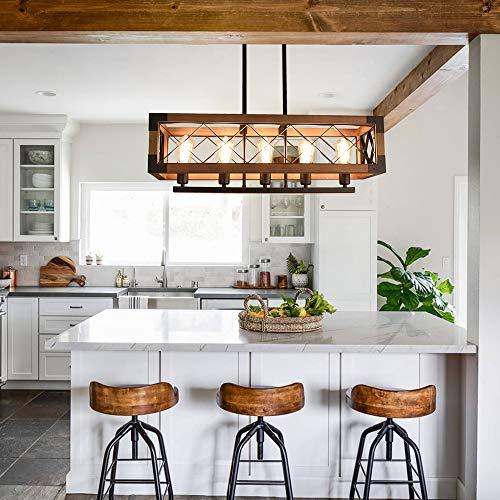 Lingkai Industrial Kitchen Island Lighting Rectangular