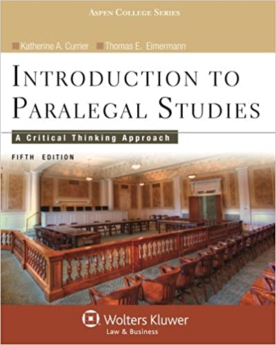 Introduction to paralegal studies a critical thinking approach introduction to paralegal studies a critical thinking approach fifth edition aspen college 5th edition fandeluxe Image collections