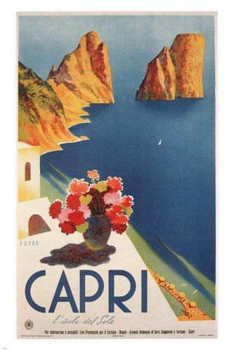 Amazon com: Capri VINTAGE TRAVEL POSTER Mario Puppo ITALY