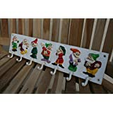 Cast Iron Coat Hooks Seven Dwarves Vintage Style Painted Coat Rack by cast iron